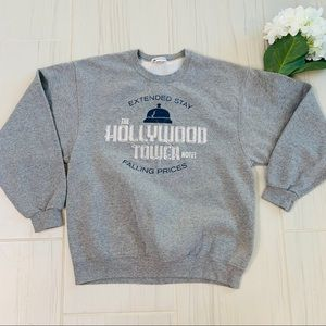 Disney Parks  Gray Extended Stay sweat Shirt L